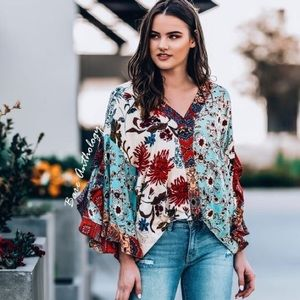 Tops - Floral Print Top by Umgee